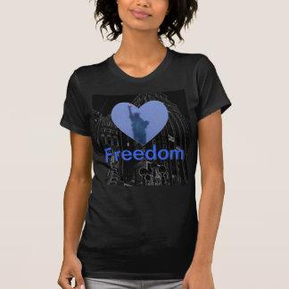Torche de liberté de Madame Liberty Free Heart Tsh T-shirt