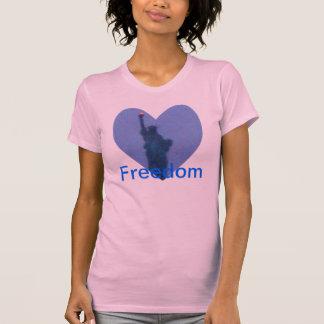Torche de liberté de Madame Liberty Free Heart Tsh T-shirts