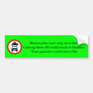 torcycle Safety Bumper Sticker