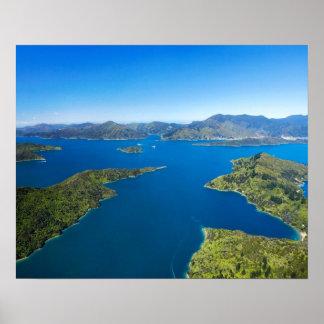 Torea Bay, Queen Charlotte Sound, Marlborough Poster