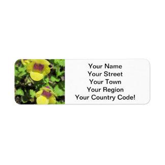 Torenia Yellow Plant Garden Flower Return Address Label