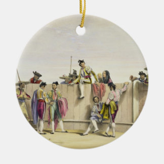 Toreros Reposing between the Bulls, 1865 (colour l Ceramic Ornament