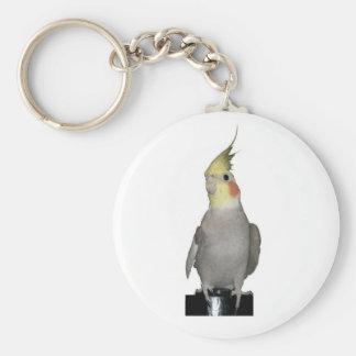 Tori the majestic cockatiel keychain