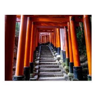 Torii at the Inari Shrine, Kyoto - Postcard