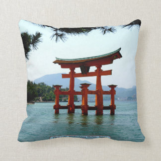 Torii gate, Itsukushima Shrine, Japan Throw Pillow