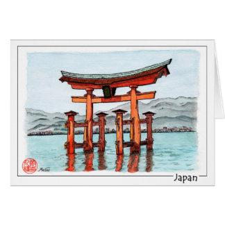Torii - Itsukushima Shrine, Japan Card