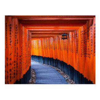 Torii Path of Fushimi Inari-Taisha Shrine Postcard