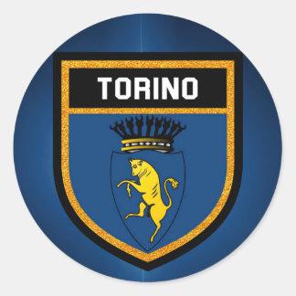 Torino Flag Round Sticker