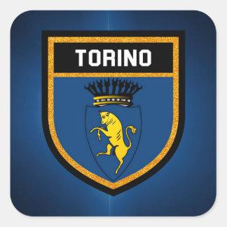Torino Flag Square Sticker