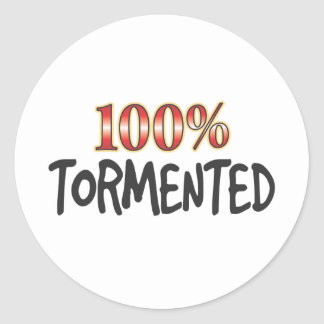 Tormented 100 Percent Round Stickers