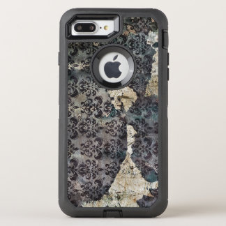 Torn and Worn Vintage Antique Floral Wallpaper OtterBox Defender iPhone 8 Plus/7 Plus Case