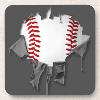 Torn Baseball Coaster