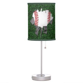 Torn Baseball (grass) Table Lamp