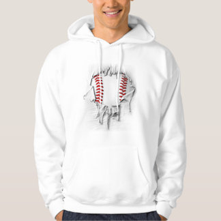 Torn Baseball Hoodie