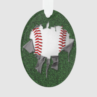 Torn Baseball (textured) Ornament