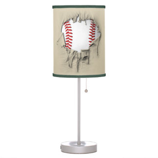 Torn Baseball (textured) Table Lamp