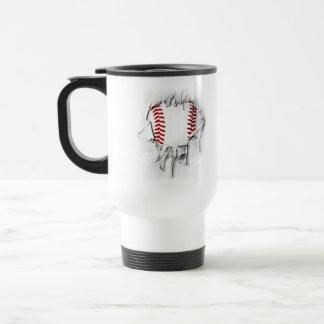 Torn Baseball Travel Mug