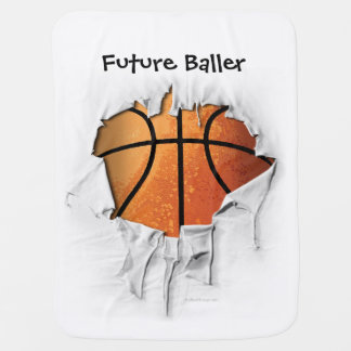 Torn Basketball Baby Blanket