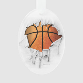 Torn Basketball Ornament