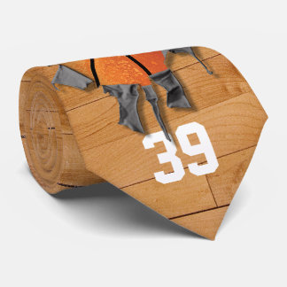 Torn Basketball (personalized) Tie