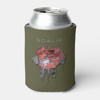 Torn Brick Wall Goalie (Hockey) Can Cooler