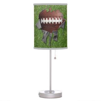 Torn Football Black Desk Lamp