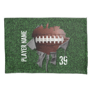 Torn Football Personalized Dark Pillowcase