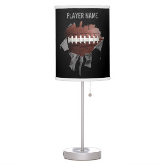 Torn Football Personalized Table Lamp