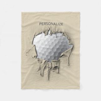 Torn Golf Ball Fleece Blanket