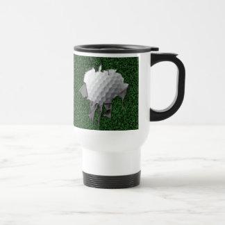 Torn Golf Ball Travel Mug