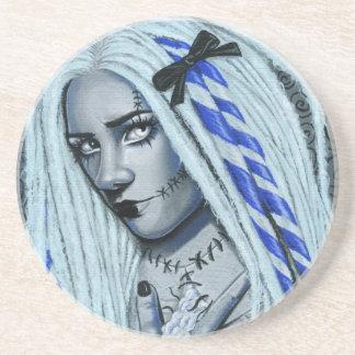 Torn Gothic Ragdoll Fantasy Art Coaster