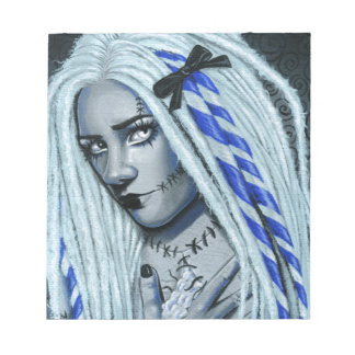Torn Gothic Ragdoll Fantasy Art Notebood Notepad