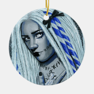 Torn Gothic Ragdoll Fantasy Art Ornament