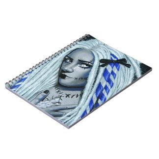 Torn Gothic Ragdoll spiral notebood Spiral Notebook