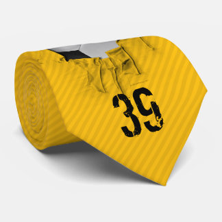 Torn Soccer (personalized) White Tie