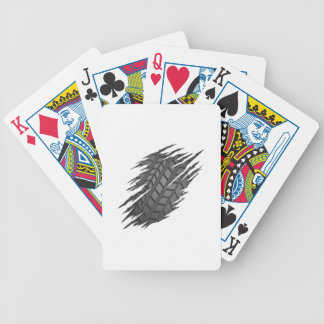 Torn Tyre Bicycle Playing Cards