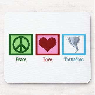 Tornades d'amour de paix tapis de souris