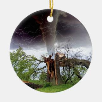 Tornado Ceramic Ornament