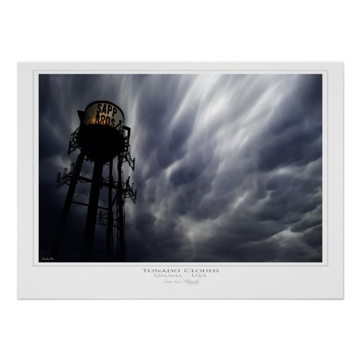 Tornado clouds Print