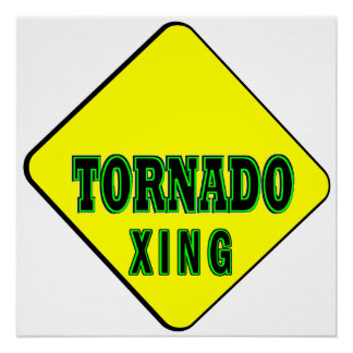 Tornado Crossing Perfect Poster