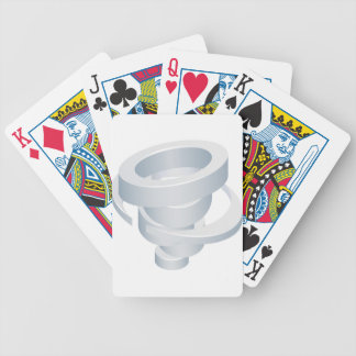 Tornado Cyclone Hurricane Twister 3d Icon Bicycle Playing Cards
