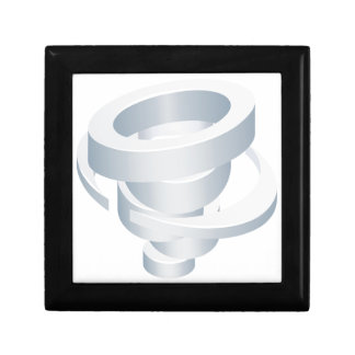 Tornado Cyclone Hurricane Twister 3d Icon Gift Box