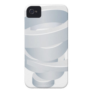 Tornado Cyclone Hurricane Twister 3d Icon iPhone 4 Cover