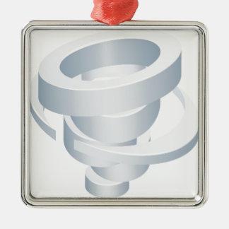 Tornado Cyclone Hurricane Twister 3d Icon Metal Ornament