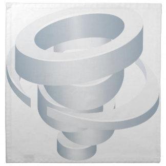 Tornado Cyclone Hurricane Twister 3d Icon Napkin
