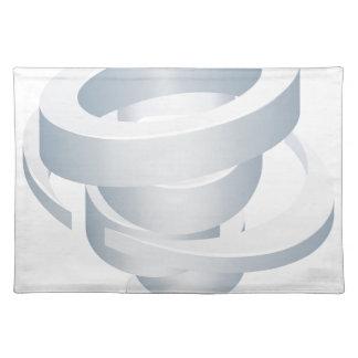 Tornado Cyclone Hurricane Twister 3d Icon Placemat