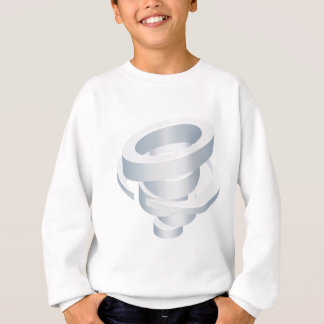 Tornado Cyclone Hurricane Twister 3d Icon Sweatshirt