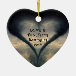 Tornado Heart Ornament
