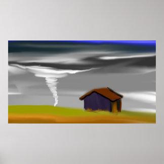 Tornado Landscape Skyscape Poster