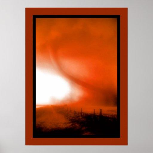 Tornado near Cordell, Oklahoma Poster